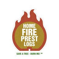 Home Fire Prest Logs | Wax-Free made of 100% Recycled Wood